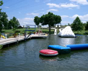 Kids love the Water Park at the Lake LBJ Yacht Club and Marina